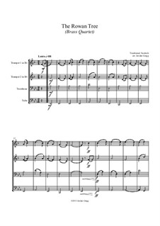 The Rowan Tree: For brass quartet by folklore