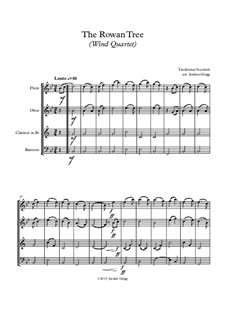 The Rowan Tree: For wind quartet by folklore