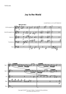 Joy to the World: For brass quintet by Lowell Mason