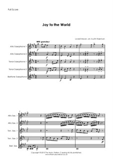 Joy to the World: For sax quintet by Lowell Mason