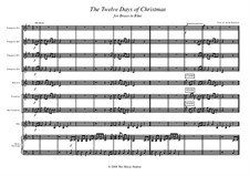 The Twelve Days of Christmas: For brass ensemble by folklore