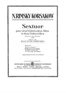 Sextet in A Major: Cello I part by Nikolai Rimsky-Korsakov