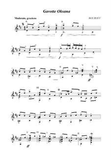 Cycle 'Three dedications', Op.2: No.1 Gavotte 'Oksana' by BOUROFF