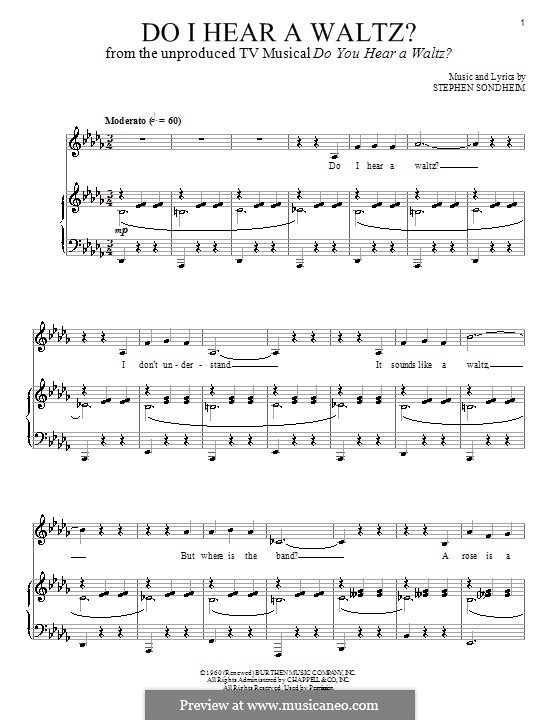 Do I Hear a Waltz?: For voice and piano by Stephen Sondheim