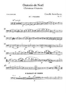 Oratorio de Noël (Christmas Oratorio), Op.12: Cello part by Camille Saint-Saëns