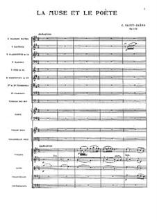 La muse et le poète, Op.132: Full score by Camille Saint-Saëns