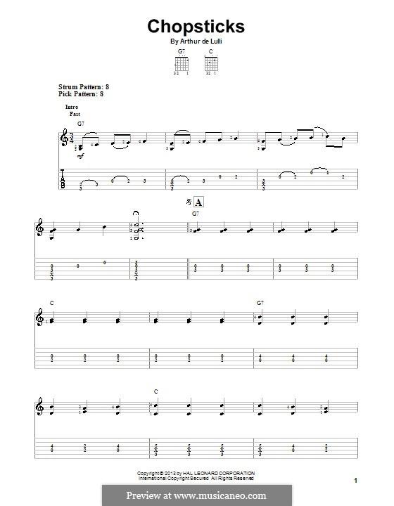 Chopsticks: For guitar with tab by Arthur De Lulli