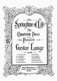 Maytime of Life, Op.292: Complete set by Gustav Lange