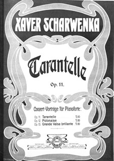 Tarantella in A Flat Major, Op.11: For piano by Xaver Scharwenka