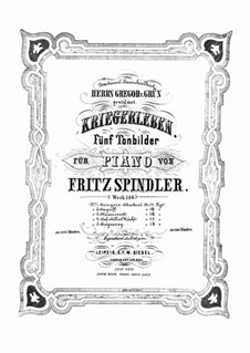 Charge of the Hussars for Two Pianos Four Hands, Op.140 No.3: For piano by Fritz Spindler