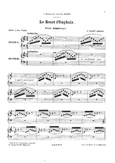 Le rouet d'Omphale, Op.31: For two pianos four hands by Camille Saint-Saëns