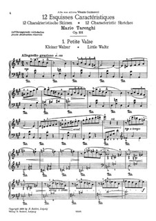 12 Esquisses Caractéristiques. Petite Valse, Op.101 No.1: 12 Esquisses Caractéristiques. Petite Valse by Mario Tarenghi