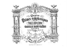 Le rouet d'Omphale, Op.31: For piano four hands by Camille Saint-Saëns