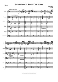 Introduction and Rondo Capriccioso, Op.28: For flute and string orchestra - score, parts by Camille Saint-Saëns