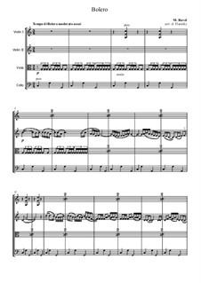 Bolero, M.81: For string quartet by Maurice Ravel