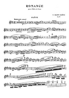 Romance for Flute (or Violin) and Orchestra, Op.37: Version for flute (or violin) and piano by Camille Saint-Saëns