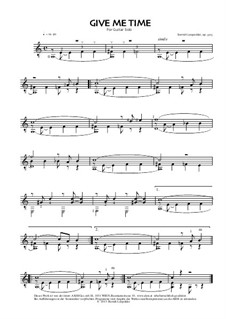 Give Me Time, Op.305: Give Me Time by Berndt Leopolder