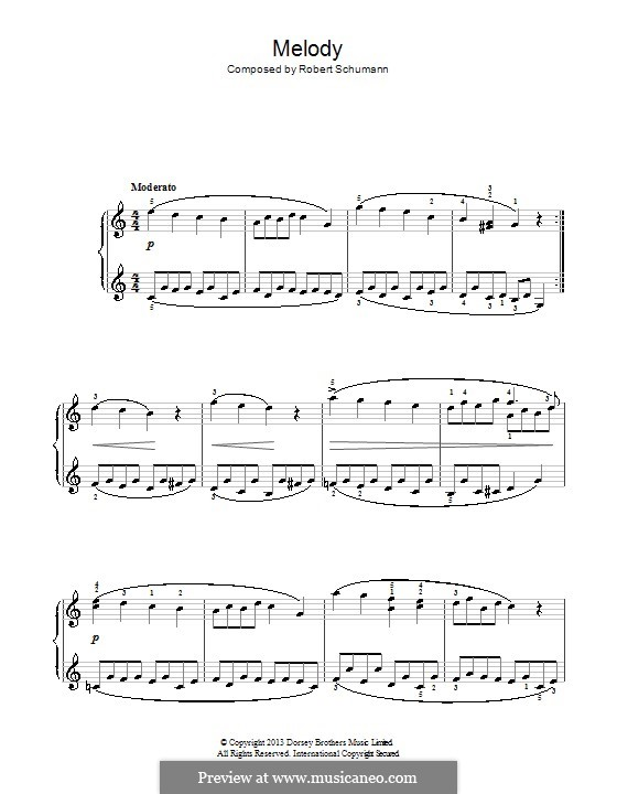 No.1 Melodie (Melody): For piano by Robert Schumann