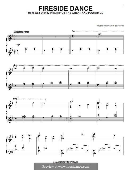 Fireside Dance: For voice and piano (or guitar) by Danny Elfman