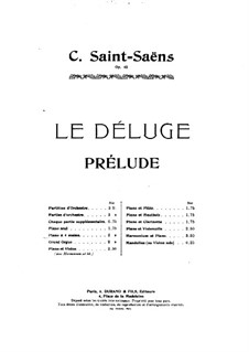 Le déluge (The Flood), Op.45: Prelude, for piano four hands by Camille Saint-Saëns