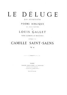 Le déluge (The Flood), Op.45: Full score by Camille Saint-Saëns