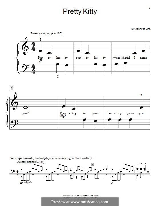Pretty Kitty: For piano by Jennifer Linn