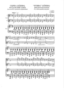 Sirba: For two violins and piano by Eugen Doga