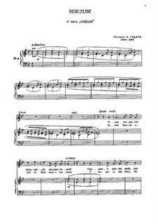 Berceuse: For voice and piano by Benjamin Godard