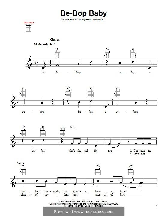 Be-Bop Baby: For ukulele by Pearl Lendhurst