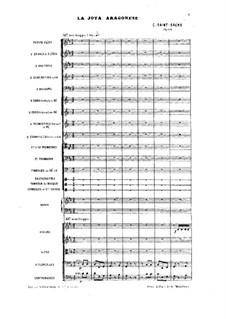 Jota Aragonese, Op.64: Full score by Camille Saint-Saëns