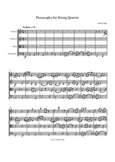 Passacaglia for String Quartet: Passacaglia for String Quartet by Jordan Grigg