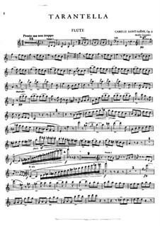 Tarantella in A Minor, Op.6: Flute part by Camille Saint-Saëns