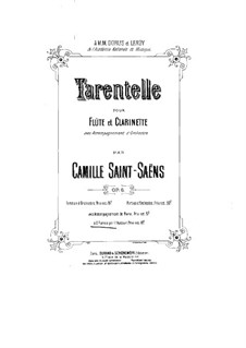 Tarantella in A Minor, Op.6: For two pianos four hands by Camille Saint-Saëns