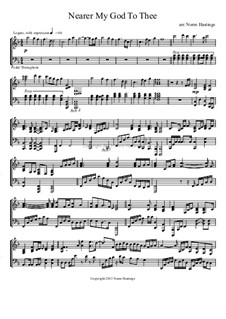 Nearer, My God, To Thee: For piano by Lowell Mason