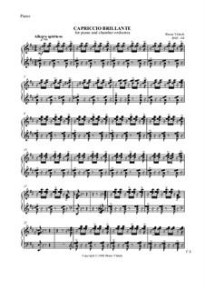 Capriccio Brillante for piano and orchestra, Op.22: Parts by Bruno Vlahek