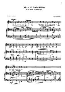 Radamisto, HWV12a: Vanne, sorella in grata... by Georg Friedrich Händel
