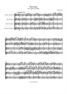 Pastorale: For sax quartet SATB by Jordan Grigg