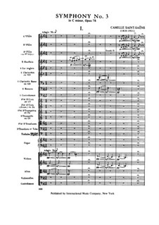 Symphony No.3 in C Minor 'Organ Symphony', Op.78: Movement I by Camille Saint-Saëns