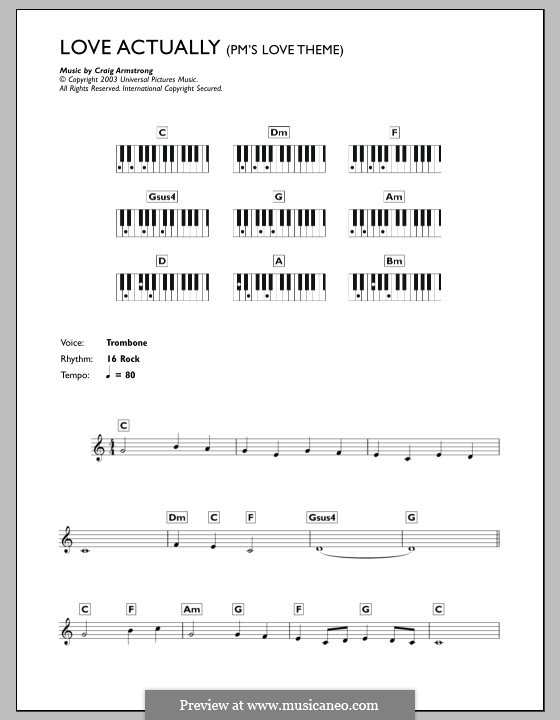 P.M.'s Love Theme (from Love Actually): For keyboard by Craig Armstrong