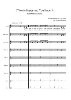 If You're Happy and You Know It: For orff ensemble by folklore