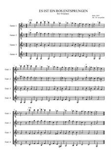Es ist ein Ros entsprungen (A Rose Has Sprung Up): For guitar by Unknown (works before 1850)