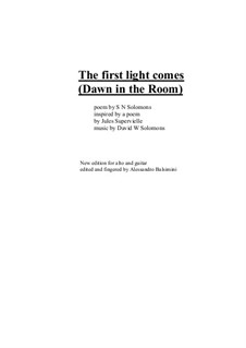 The first light comes for alto or baritone and guitar: The first light comes for alto or baritone and guitar by David W Solomons