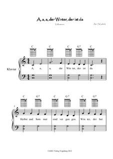 A, a, a, der Winter, der ist da: Partitur für zwei Interpreten, Op.1 by folklore