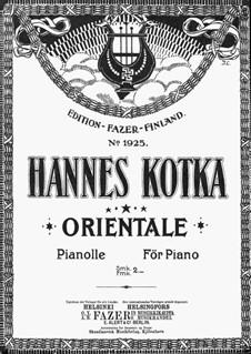 Orientale: For piano by Hannes Kotka