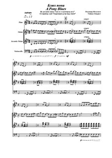 Of Childrens suite 'Somewhere in the Fairy Forest' for quartet, Op.6: No.8 Pony Blues by Vladimir Malganov