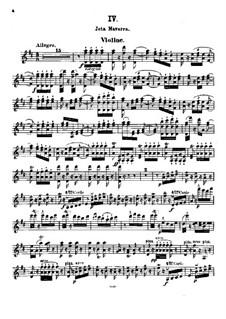 Jota Navarra, Op.22: For violin and piano – violin part by Pablo de Sarasate