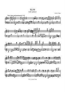XLM (solo piano): XLM (solo piano) by Jordan Grigg