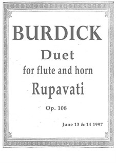 Duet No.3 'Rupavati' for horn and flute, Op.108: Duet No.3 'Rupavati' for horn and flute by Richard Burdick
