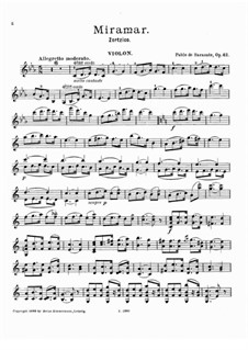 Zortzico Miramar, Op.42: Solo part by Pablo de Sarasate