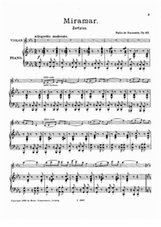 Zortzico Miramar, Op.42: Score by Pablo de Sarasate